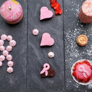 Inspiration octobre rose - chocolat fraise meringue